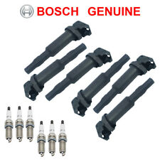 6pcs OEM Ignition Coils & Spark Plugs 0221504470 FR7NPP332 for E90 E82 E60 X3 Z4