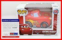 ! Rare Owen Wilson Signed Lightning McQueen Cars Autographed Funko POP PSA JSA !