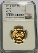 2006 China G100Y 1/4oz gold panda coin NGC MS70