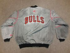 VTG 90s Starter NBA Chicago Bulls Acid Stone Wash Nylon Bomber Jacket X-Large XL