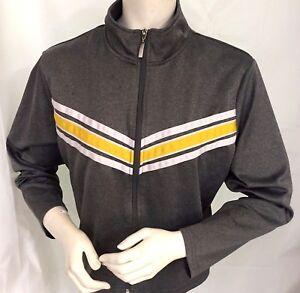 Activewear Flattering Stripe Jogging Set MetroStyle® Gray & Yellow PL