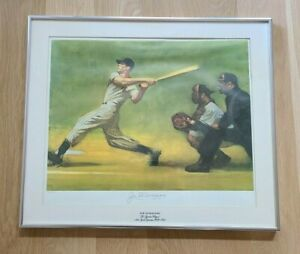 Joe Dimaggio Autographed Limited Edition 1974 Sports Illustrated Lithograph