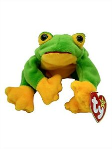 Ty Beanie Baby Smoochy The Frog Green Collectible Retired Plush Vintage New