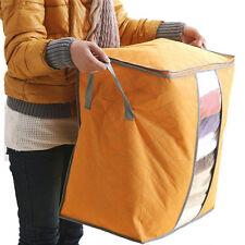 Storage Box Portable Organizer Non Woven Under bed Pouch Storage Bag Box Orange