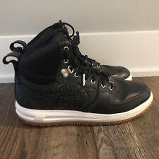 Nike Lunar Force 1 High Sneakerboot Black 654481-002 Men's Size 10