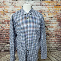 HUGO BOSS ORANGE LABEL CHECKED COTTON LONG SLEEVE SLIM FIT SHIRT SIZE XXL A65-14