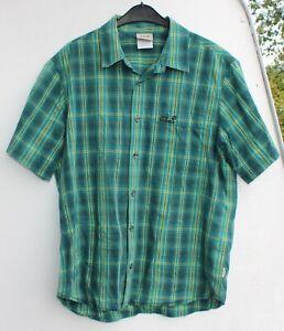 Jack Wolfskin Hemd Outdoor Frühling Shirt Halbarm Freizeit Größe L grün