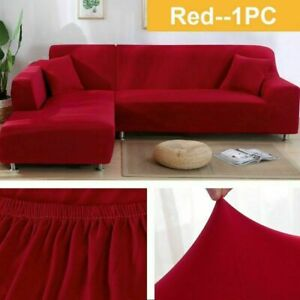 Elastic Sofa Covers for Stretch Couch Covers Corner L-shaped Sectional Slipcover