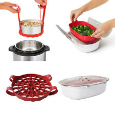 Silicone Steamed Egg Rack Pressure Cooker and Microwave Cookware Steamer Set