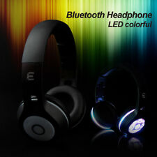 Foldable Wireless Bluetooth On Ear Headphones LED Glowing  headset earphone +MIC