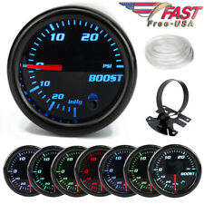 "Boost Gauge 52mm Tinted 7 Color 0-30 Psi Pressure Turbo Meter 2"" with Free Mount"