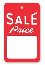 1000 All Purpose Small Red White Sale Price Unstrung Merchandise Coupon Tags