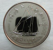 1989 CANADA 10 CENTS PROOF-LIKE DIME COIN
