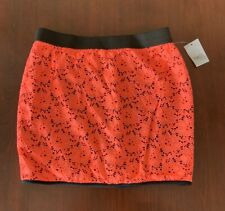 Rue 21 Neon Fluorescent Peach Skirt - Size L Brand New With Tags