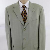 44 XL Brooks Brothers Gray Plaid Silk Wool 3 Btn Mens Jacket Sport Coat Blazer
