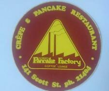 Retro Sticker - Newcastle Pancake Factory & Coffee Lounge 141 Scott St Newcastle