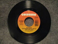 """45 RPM 7"""" Record Scandal Ft Patty Smith Warrior & Less Than Half 1984 28-04424"""