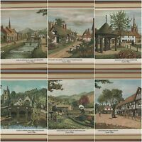 Pimpernel Lunch Sized Placemats England Historic English Villages Luncheon Set 6