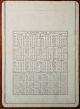 1938 Antique Calendar Board