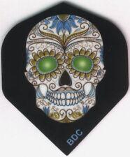 Green Eyed Candy Skull Dart Flights: 3 per set