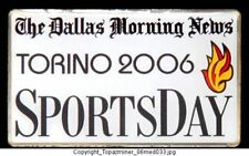 OLYMPIC PIN 2006 TORINO ITALY DALLAS MORNING NEWS MEDIA