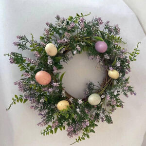 Nordic Easter Eggs Wreath Spring Farmhouse Front Wall Hanging Holiday Decor
