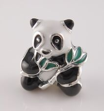 SWEET PANDA Authentic PANDORA Silver 925~Black/White ENAMEL Charm/Bead NEW