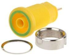 Hirschmann Test & Measurement, Green/Yellow 4mm Banana Plug, Gold Plated, 1000V