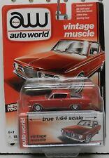 RED 1964 65 PLYMOUTH BARRACUDA CUDA MOPAR AW AUTO WORLD