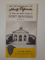 FORT BENNING GEORGIA brochure TRAVEL Western Union 1940s