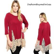 PLUS SZ BOHO Burgundy Gothic Steampunk Gypsy Lace Fairy Swing Dress Top 1X 2X 3X