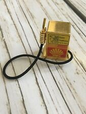 Old Fashion Miniature Doll House Shell Gas Fuel Pump Gold