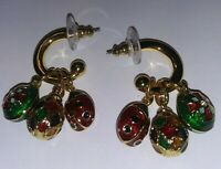 Joan Rivers Classics Pierced Hoop And Dangle Eggs Earrings