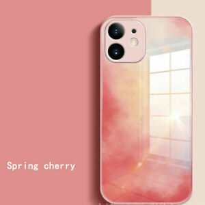 Liquid Silicone Tempered Glass Phone Case For iPhone 13 12 11 Pro Max XR XS 7 8