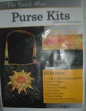 The Batik Man Purse Fabric Kit -Mita Gold - 1/2 Price Regular Retail !