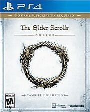 PS4 Elder Scrolls Online Tamriel Unlimited NEW Sealed Region Free USA Video game