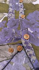 mens vintage generra L Xl? rayon shirt 1991 90s dated flower purples grunge vtg