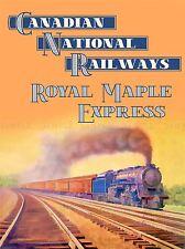TRAVEL RAIL TRAIN CANADA NATIONAL ROYAL MAPLE EXPRESS ART POSTER PRINT LV4088
