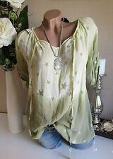 Italy túnica blusa camiseta farbverlau AMARILLO CARMEN impresión Extra Grande