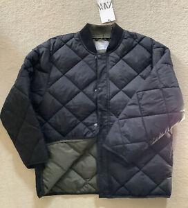 Boys ZARA Premium Quilted Full Zip Bomber Jacket. New. Black. Age 11-12.