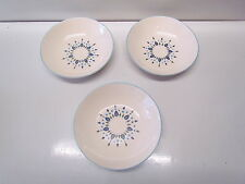Vintage Antique China Bowl Hand Painted Under Glaze Ovenproof USA Lot of 3