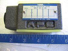 Yuken Hydraulic Modular Check Valve MCP-01-0-30 -  New-