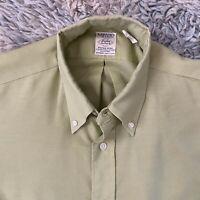 Arrow Vintage 60s Medium Cum Laude Sanforized Green Oxford Shirt Tapered USA