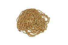 Oro, brillante redonda con cuentas de Costura Bordado Rocaille joyas HAZLO TÚ MISMA Decoración 2 mm