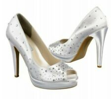Touch Ups Cyndi SIZE 8 White High Heels, Prom, Wedding, Homecoming NEW IN BOX