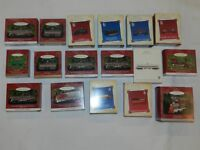 Lot of 17 Hallmark Ornaments Lionel Trains Train Sets Tender Locomotive Engine