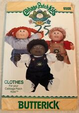 Vintage 1984 Original Cabbage Patch Kids Butterick Sewing Clothes Pattern #6508!