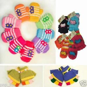 Childrens Infant Toddlers Mittens Gloves Baby Fall Winter Cold Weather Boy/Girls
