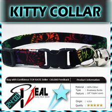 Safety  CAT KITTEN  Breakaway Collar ~ MAYHEM ONBRE SKULLS ~