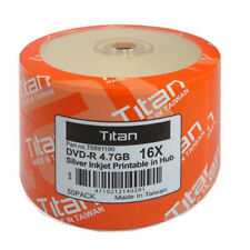 500 Titan Brand 16X Silver Inkjet HUB Printable DVD-R DVDR Disc 4.7GB